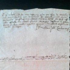 Manuscritos antiguos: 1560 MANUSCRITO CATALÁN FIRMA AUTOGRAFA DEL SEÑOR FEUDAL MIQUEL DES BOSCH BURRIAC MATARÓ VILASSAR. Lote 52761068