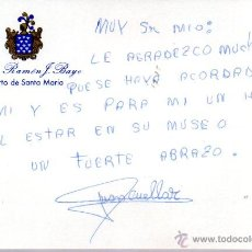 Manuscritos antiguos: SIGNED,AUTOGRAPH,FIRMA,FIRMA DE JUAN ANTONIO CUELLAR FERNANDEZ, TORERO. VER GOOGLE.. Lote 52847738