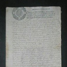 Manuscritos antiguos: MANUSCRITO ORIGINAL FIRMA REAL FELIPE IV SELLO PRIMERO EXTREMADURA BADAJOZ VILLA CABEZA DE BUEY . Lote 52936051