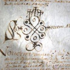 Manuscrits anciens: ENORME MANUSCRITO EN PERGAMINO - INUSUAL POR TAMAÑO - AÑO 1650 - S. XVII - RARO. Lote 53016993