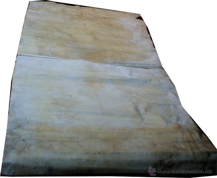 Manuscritos antiguos: ENORME MANUSCRITO EN PERGAMINO - INUSUAL POR TAMAÑO - AÑO 1650 - S. XVII - RARO - Foto 5 - 53016993