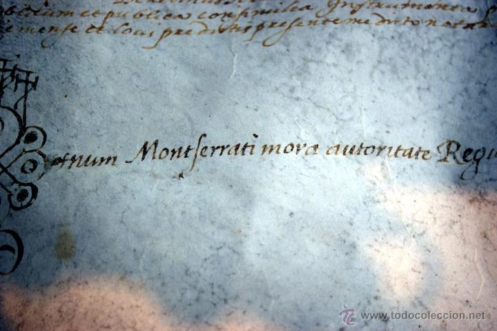 Manuscritos antiguos: ENORME MANUSCRITO EN PERGAMINO - INUSUAL POR TAMAÑO - AÑO 1650 - S. XVII - RARO - Foto 9 - 53016993