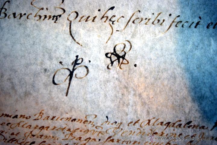 Manuscritos antiguos: ENORME MANUSCRITO EN PERGAMINO - INUSUAL POR TAMAÑO - AÑO 1650 - S. XVII - RARO - Foto 10 - 53016993