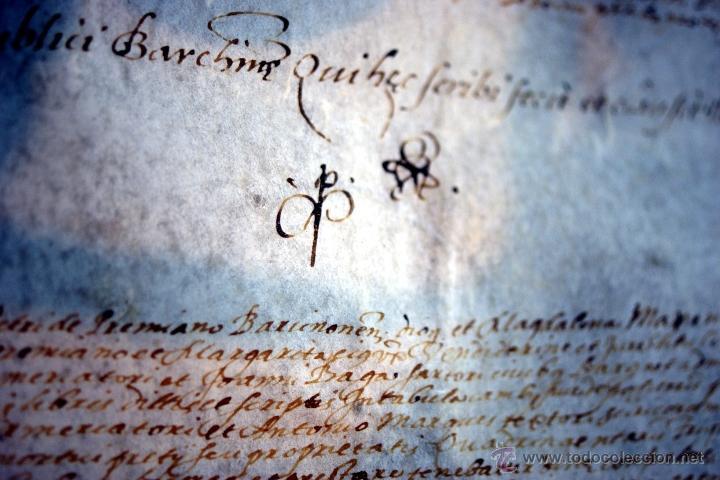 Manuscritos antiguos: ENORME MANUSCRITO EN PERGAMINO - INUSUAL POR TAMAÑO - AÑO 1650 - S. XVII - RARO - Foto 13 - 53016993
