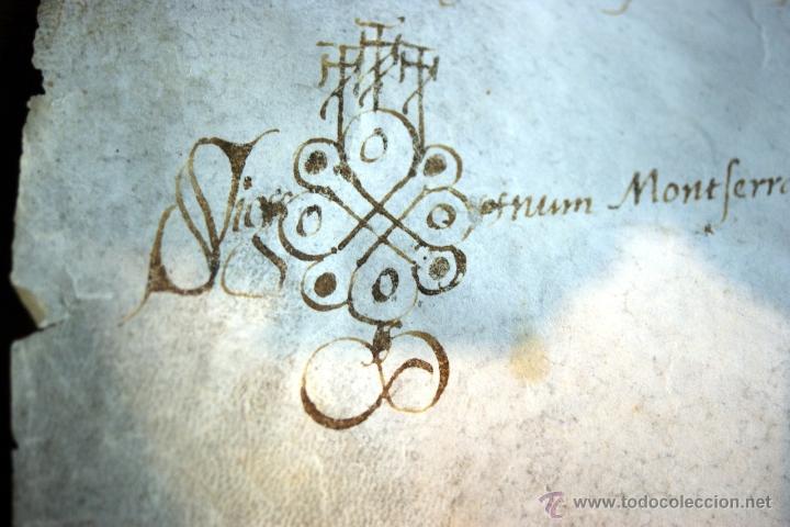 Manuscritos antiguos: ENORME MANUSCRITO EN PERGAMINO - INUSUAL POR TAMAÑO - AÑO 1650 - S. XVII - RARO - Foto 14 - 53016993