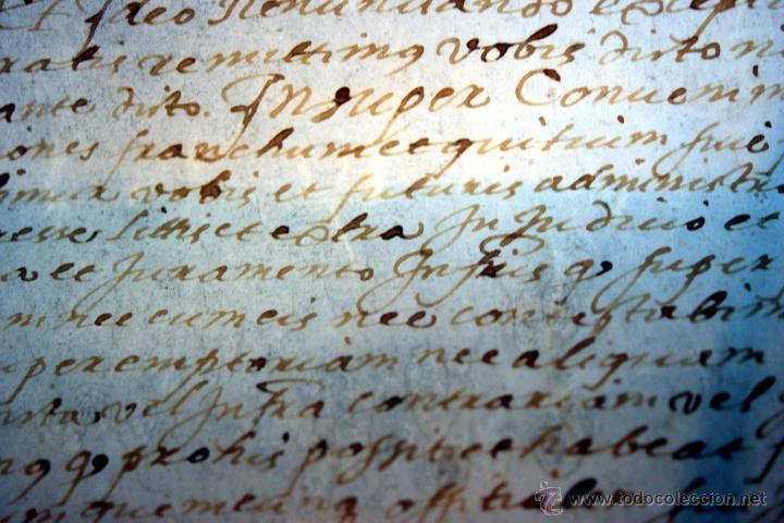 Manuscritos antiguos: ENORME MANUSCRITO EN PERGAMINO - INUSUAL POR TAMAÑO - AÑO 1650 - S. XVII - RARO - Foto 15 - 53016993