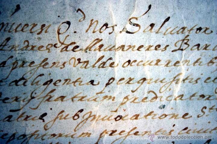 Manuscritos antiguos: ENORME MANUSCRITO EN PERGAMINO - INUSUAL POR TAMAÑO - AÑO 1650 - S. XVII - RARO - Foto 18 - 53016993
