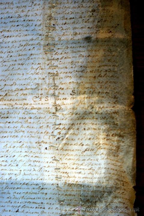 Manuscritos antiguos: ENORME MANUSCRITO EN PERGAMINO - INUSUAL POR TAMAÑO - AÑO 1650 - S. XVII - RARO - Foto 20 - 53016993