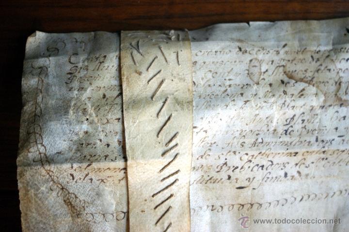 Manuscritos antiguos: ENORME MANUSCRITO EN PERGAMINO - INUSUAL POR TAMAÑO - AÑO 1650 - S. XVII - RARO - Foto 21 - 53016993