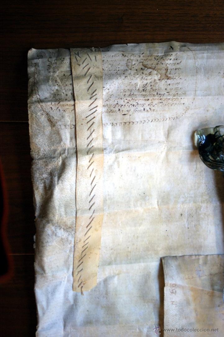 Manuscritos antiguos: ENORME MANUSCRITO EN PERGAMINO - INUSUAL POR TAMAÑO - AÑO 1650 - S. XVII - RARO - Foto 22 - 53016993