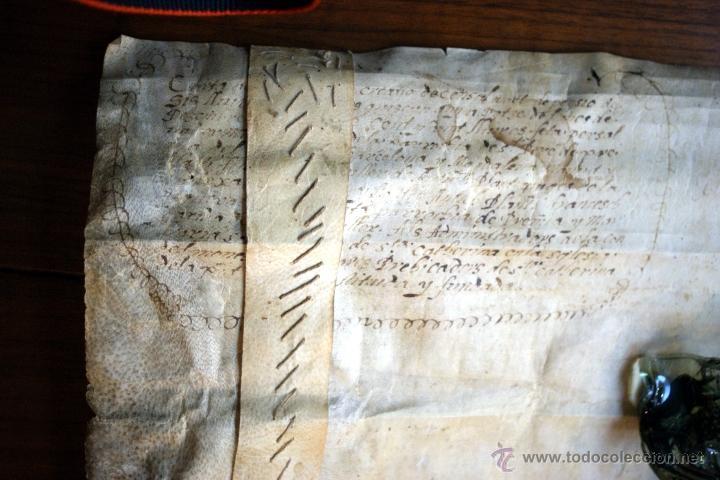 Manuscritos antiguos: ENORME MANUSCRITO EN PERGAMINO - INUSUAL POR TAMAÑO - AÑO 1650 - S. XVII - RARO - Foto 24 - 53016993