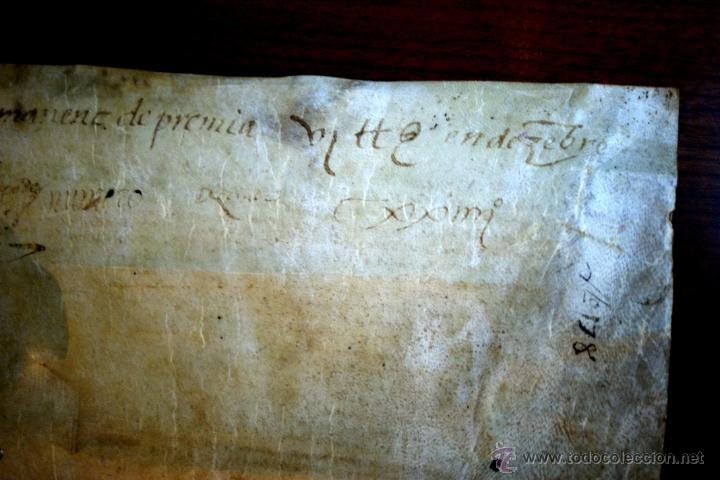 Manuscritos antiguos: ENORME MANUSCRITO EN PERGAMINO - INUSUAL POR TAMAÑO - AÑO 1650 - S. XVII - RARO - Foto 29 - 53016993