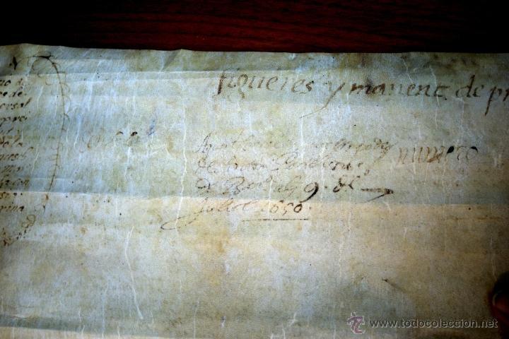 Manuscritos antiguos: ENORME MANUSCRITO EN PERGAMINO - INUSUAL POR TAMAÑO - AÑO 1650 - S. XVII - RARO - Foto 31 - 53016993