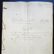 Manuscritos antiguos: BENIMARFULL (ALICANTE) ESCRITURA CON TRES SELLOS FISCALES 11º DE 50 CENTIMOS DE PESETA AÑO 1875. Lote 53108407