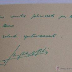 Manuscritos antiguos: FELICITACIÓN NAVIDEÑA MANUSCRITA DEL REY DON JUAN CARLOS EN SU EPOCA DE PRINCIPE. Lote 53157978