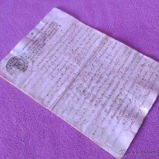 Manuscritos antiguos: MANUSCRITO ORIGINAL,TOMA DE POSESION DEL CASTILLO DE CASTELLAR DEL VALLES 1774. Lote 53197065