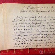 Manuscritos antiguos: ZARAGOZA.1928. MANUSCRITO. PROYECTO DEL PABELLÓN ARAGONÉS DE LA EXPO IBEROAMERICANA DE SEVILLA.. Lote 53300853