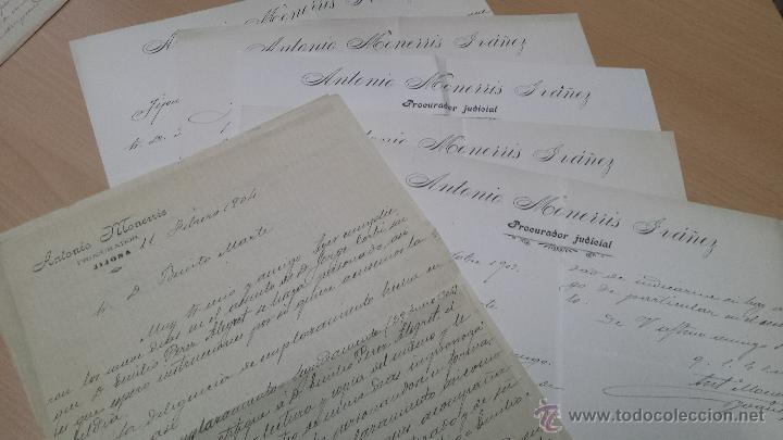 Manuscritos antiguos: CARTAS MANUSCRITAS ANTONIO MONERRIS PRURADOR JIJONA ALICANTE - Foto 3 - 53349647