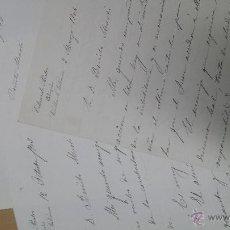Manuscritos antiguos: CARTAS MANUSCRITAS EDUARDO PASTOR ABOGADO VALENCIA . Lote 53349707