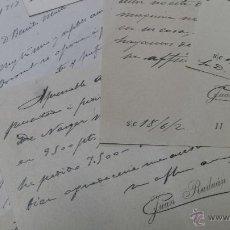 Manuscritos antiguos: TARJETAS MANUSCRITAS JUAN RADIANTE A BENITO MARTÍ ALCOY ALICANTE. Lote 53350191