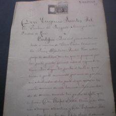 Manuscritos antiguos: DOCUMENTO MANUSCRITO JUDICIAL, DADO EN LIRIA, (VALENCIA) 1896 . Lote 53468995