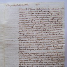 Manuscritos antiguos: AÑO 1808 * OLOT CARTA MANUSCRITA * MENCIONA EL ASESINATO DEL ALCALDE LOMANYA. Lote 53484863