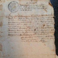 Manuscritos antiguos: MANUSCRITO 1799 AVELLANES NOGUERA OS DE BALAGUER BELLPUIG LERIDA JOSEP GUILLALMET DEUDA. Lote 53498367