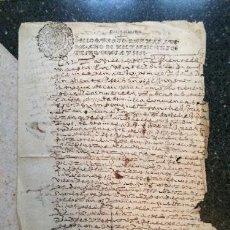 Manuscritos antiguos: MANUSCRITO 1656 FUENTE DEL MAESTRE BADAJOZ EXTREMADURA FRANCISCO DE BOLAÑOS CABILDO REAL EJECUTORIA. Lote 53508892