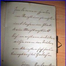 Manuscritos antiguos: LIBRO DE POEMAS MANUSCRITO DE CASI 100 AÑOS DE ANTIGÜEDAD. CON CIERRE METÁLICO.. Lote 53514682