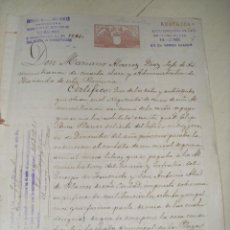 Manuscritos antiguos: CARTA DE PAGO MANUSCRITO DE 1905. Lote 53581919