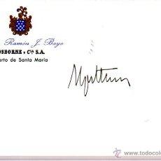Manuscritos antiguos: SIGNED,AUTOGRAPH,FIRMA,TARJETA FIRMADA POR RAFAEL SPOTTORNO,JEFE DE LA CASA DEL REY.VER GOOGLE.. Lote 53719514