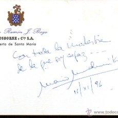 Manuscritos antiguos: SIGNED,AUTOGRAPH,FIRMA,TARJETA FIRMADA MARIO MUCHNIK. ESCRITOR.VER GOOGLE. . Lote 53756815