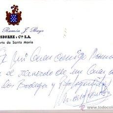 Manuscritos antiguos: SIGNED,AUTOGRAPH,FIRMA,TARJETA FIRMADA POR MIGUEL DE LOS SANTOS,PRESENTADOR DE TELEVISION.. Lote 53759213