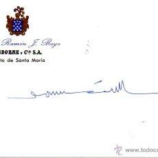 Manuscritos antiguos: SIGNED,AUTOGRAPH,FIRMA,ETIQUETA FIRMADA BARTOLOME RUIZ GONZALEZ. VER GOOGLE. Lote 53764768