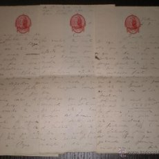 Manuscritos antiguos: CARTA MANUSCRITA CON PUBLICIDAD O MEMBRETE FARMACIA SAN ANTONIO VALENCIA 1916, CONJUNTO DE 11 CARTAS. Lote 53776006