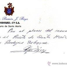 Manuscritos antiguos: SIGNED,AUTOGRAPH,FIRMA,TARJETA FIRMADA POR PEDRO DIAZ.VER GOOGLE.. Lote 53777047
