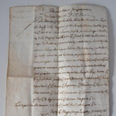 Manuscritos antiguos: ANTIGUA CARTA MANUSCRITA 1817 * MAHÓN MENORCA. Lote 53851887