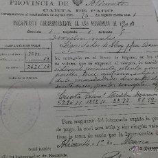 Manuscritos antiguos: DOCUMENTO CARTA DE PAGO ALICANTE 1900. Lote 53865392