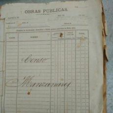 Manuscritos antiguos: DOCUMENTO ANTIGUO Y OFICIAL DEL CENSO DE LA POBLACION DE MANZANARES DE 1922. Lote 54022371