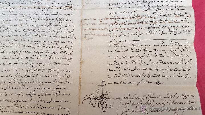 Manuscritos antiguos: RAJADELL - 1778 - EXTINCIÓ DUN CENS - 8 PÀGINES - SEGELL EN SEC - Foto 3 - 54047315