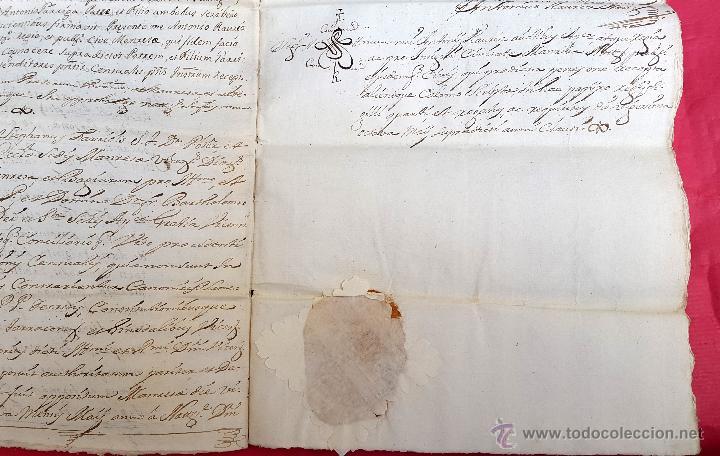 Manuscritos antiguos: RAJADELL - 1778 - EXTINCIÓ DUN CENS - 8 PÀGINES - SEGELL EN SEC - Foto 6 - 54047315
