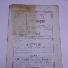 Manuscritos antiguos: MANUSCRITO MENTRIDA (TOLEDO) 1879. ESCRITURA DE VENTA DE UNA VIÑA Y 2 TIERRAS.6 FOLIOS. Lote 54080238