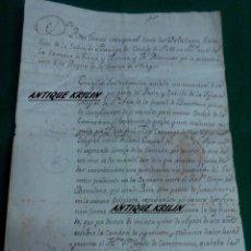Manuscritos antiguos: DON PEDRO GARCIA MAYORAL CONDE DE VALDELLANO .- MANUSCRITO SOBRE COLEGIATA STA. ANA BARCELONA 1785. Lote 54413266