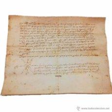 Manuscritos antiguos: MANUSCRITO DE PERGAMINO AÑO 1.421 LETRAS GOTICAS -GRANOLLERS BARCELONA. Lote 47560916