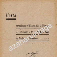 Manuscritos antiguos: CARLISMO,SEVILLA,1945, CARTA DE D.MANUEL FAL CONDE DIRIGIDA A S.A.R.DON JUAN DE BORBON,10 PAGINAS. Lote 54605365