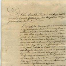 Manuscritos antiguos: 1872 MATRIMONIO CIVIL EN GELIDA (BATCELONA). Lote 54789568