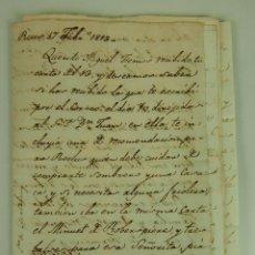 Manuscritos antiguos: DO-037. CARTAS DE FAMILIA Y CUENTAS. FAMILIA YZCO. PAPEL MANUSCRITO. ESPAÑA 1790-1814.. Lote 51557806