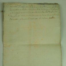 Manuscritos antiguos: DO-040. INVENTARIO DE UNA TIENDA EN LA MUERTE DE SU DUEÑO. BARCELONA (?) ESPAÑA. 1785.. Lote 51561161