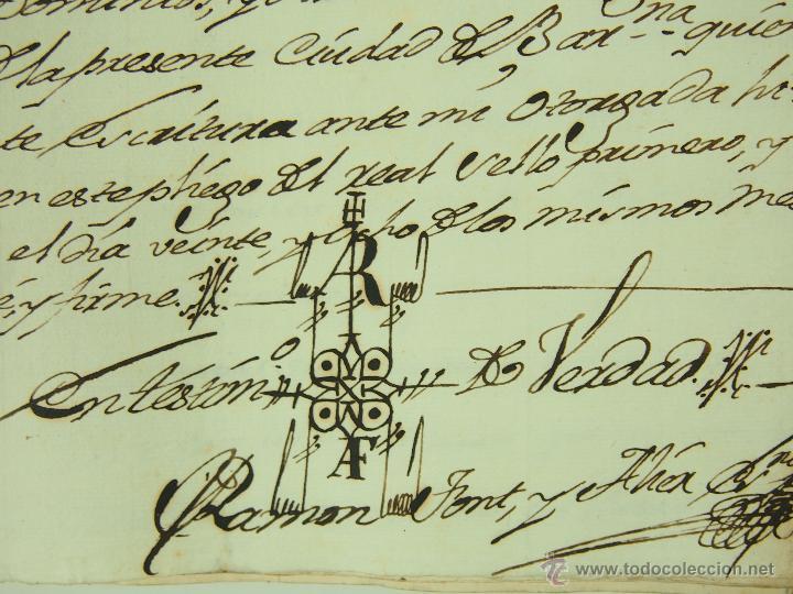 DO-044. DOCUMENTACIÓN RELACIONADA CON RAMON COPONS,MARQUÉS DE LA MANRESANA.ESPAÑA XVIII (Coleccionismo - Documentos - Manuscritos)