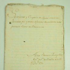 Manuscritos antiguos: DO-043. CONSTITUCIÓN Y DISOLUCIÓN SOCIEDAD DE SEGUROS MARITIMOS DE BARCELONA 1771-1774. Lote 51645754